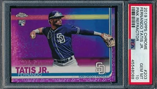 Fernando Tatis Jr. rookie card 2019 Topps Chrome