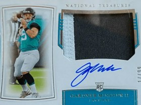 GARDNER MINSHEW ROOKIE CARD NATIONAL TREASURES