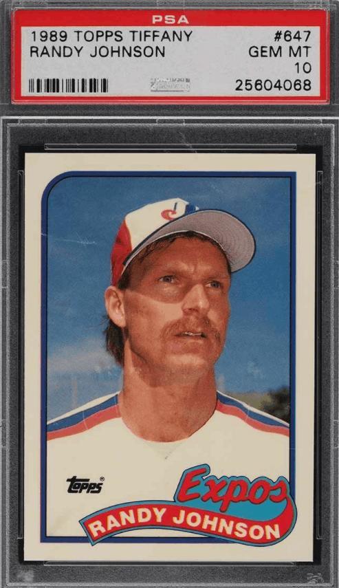 1989 baseball cards worth money big unit