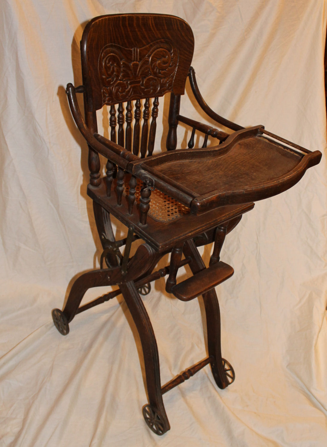 High Chairs Bargain John 39s Antiques Antique Oak Folding Up And Down
