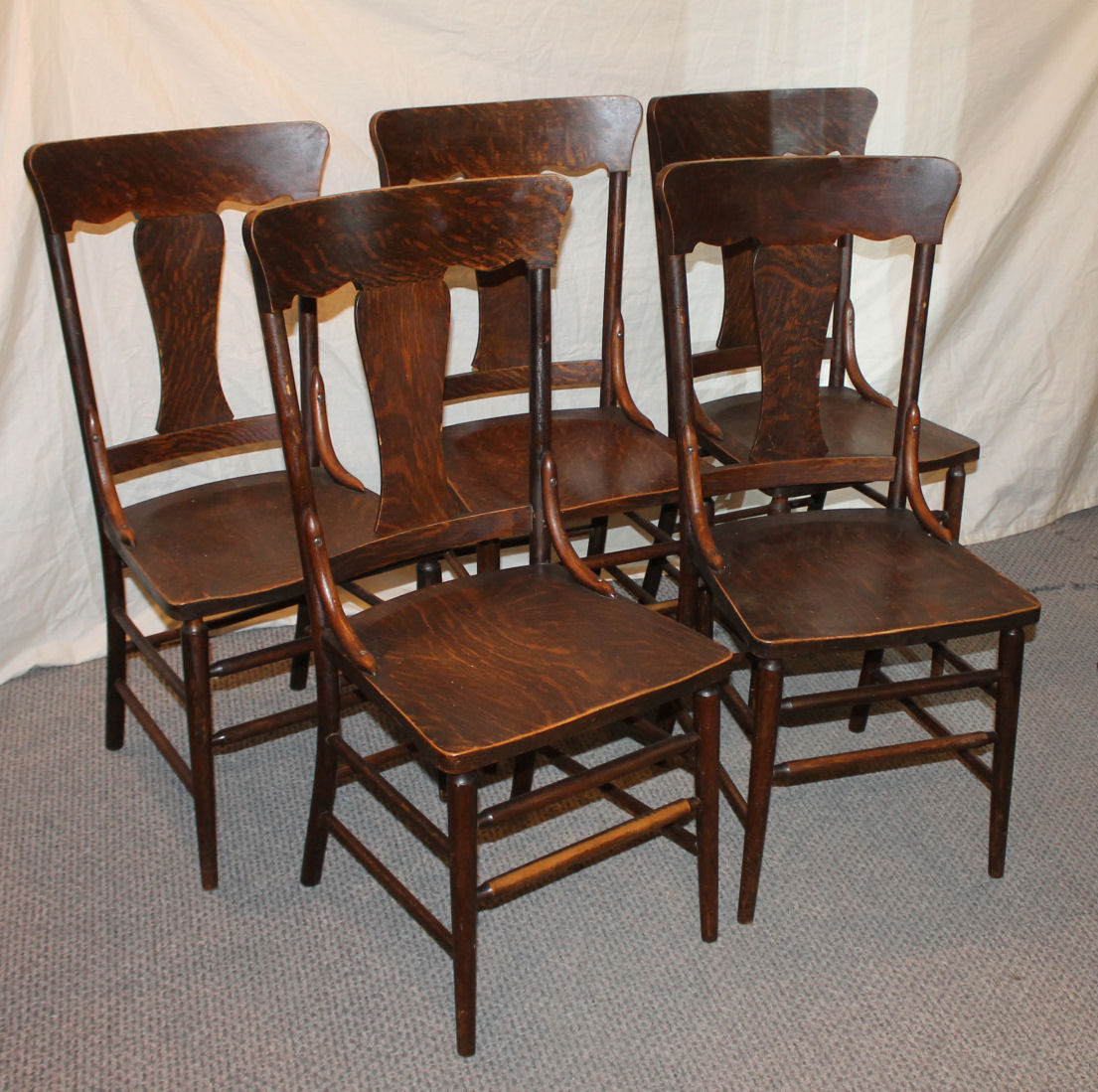Five Chairs Bargain John 39s Antiques Set Of Five Chairs Grain