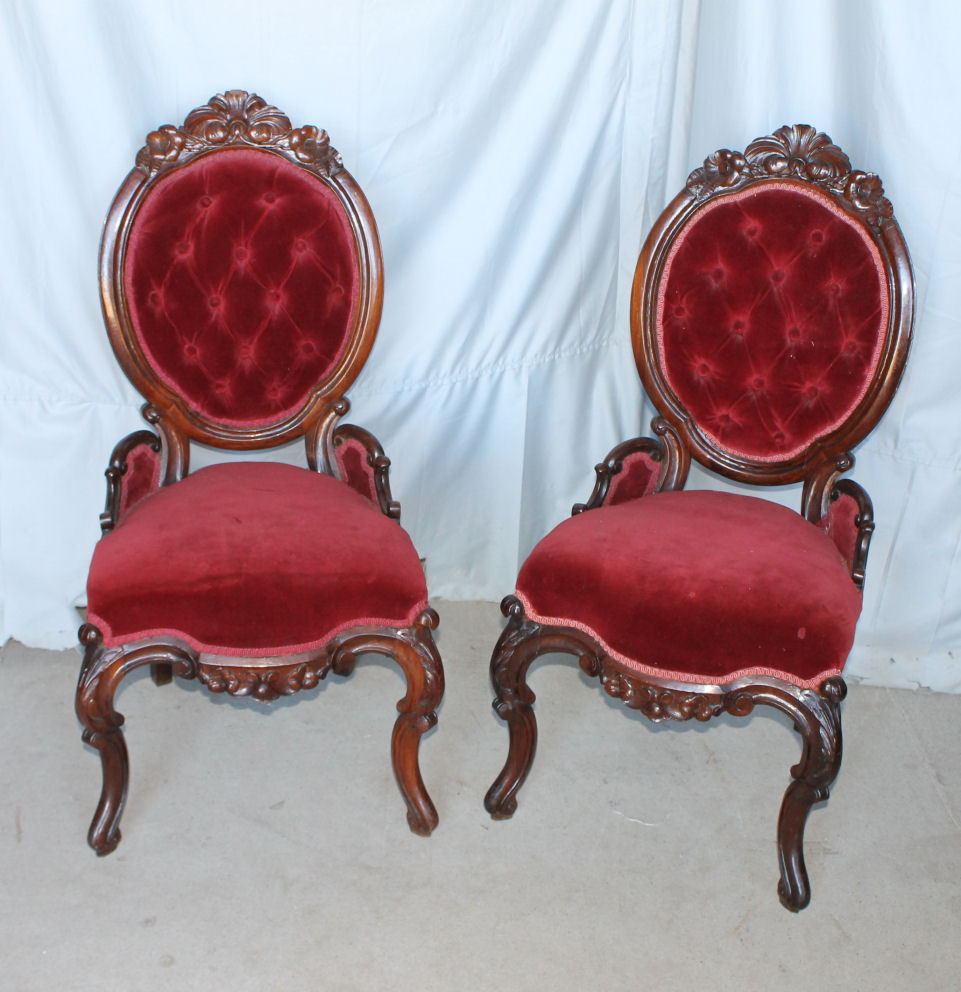 Antique Parlor Chairs Victorian Rosewood Parlor Chairs