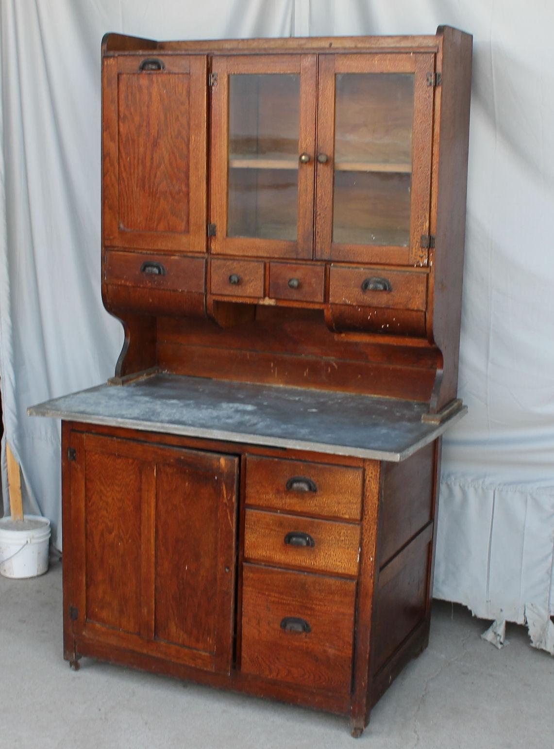 Bargain John's Antiques  Antique Oak Kitchen Cabinet