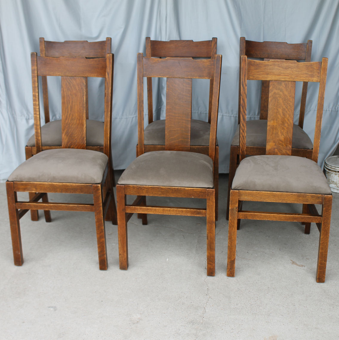 Mission Style Recliner Chair Bargain John 39s Antiques Antique Set Of Six Oak Mission
