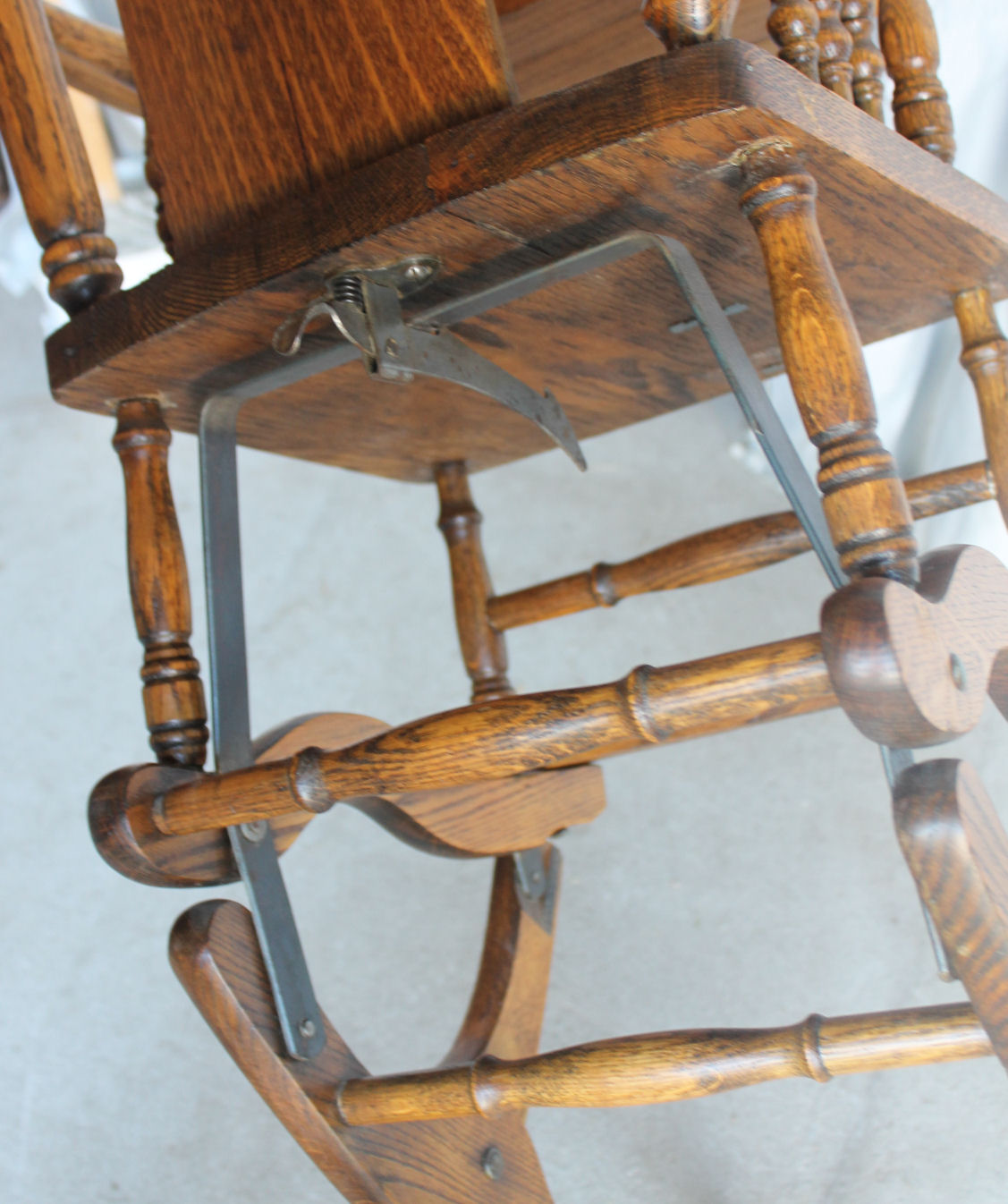 Due North Chairs Bargain John 39s Antiques Oak Collapsible High Chair Up