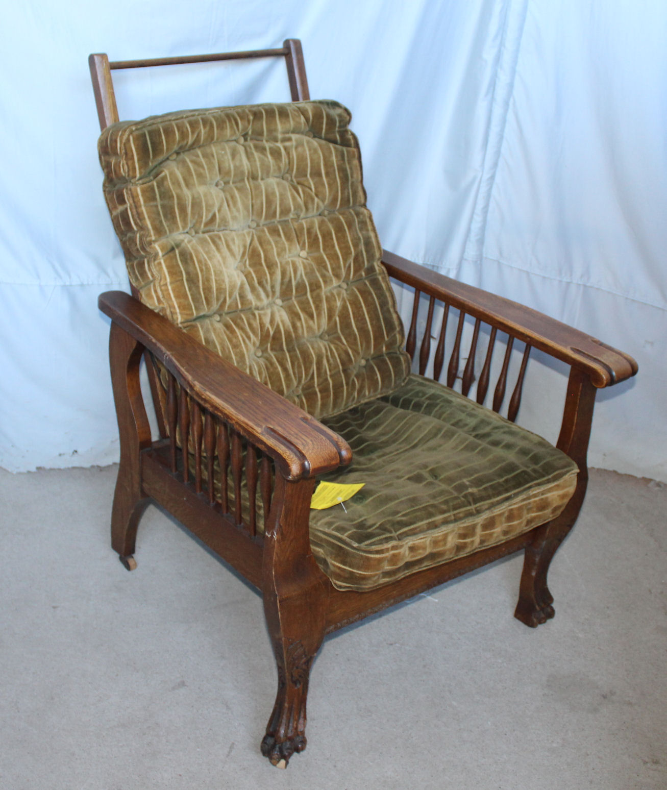Morris Chairs Bargain John 39s Antiques Antique Oak Morris Chair Claw