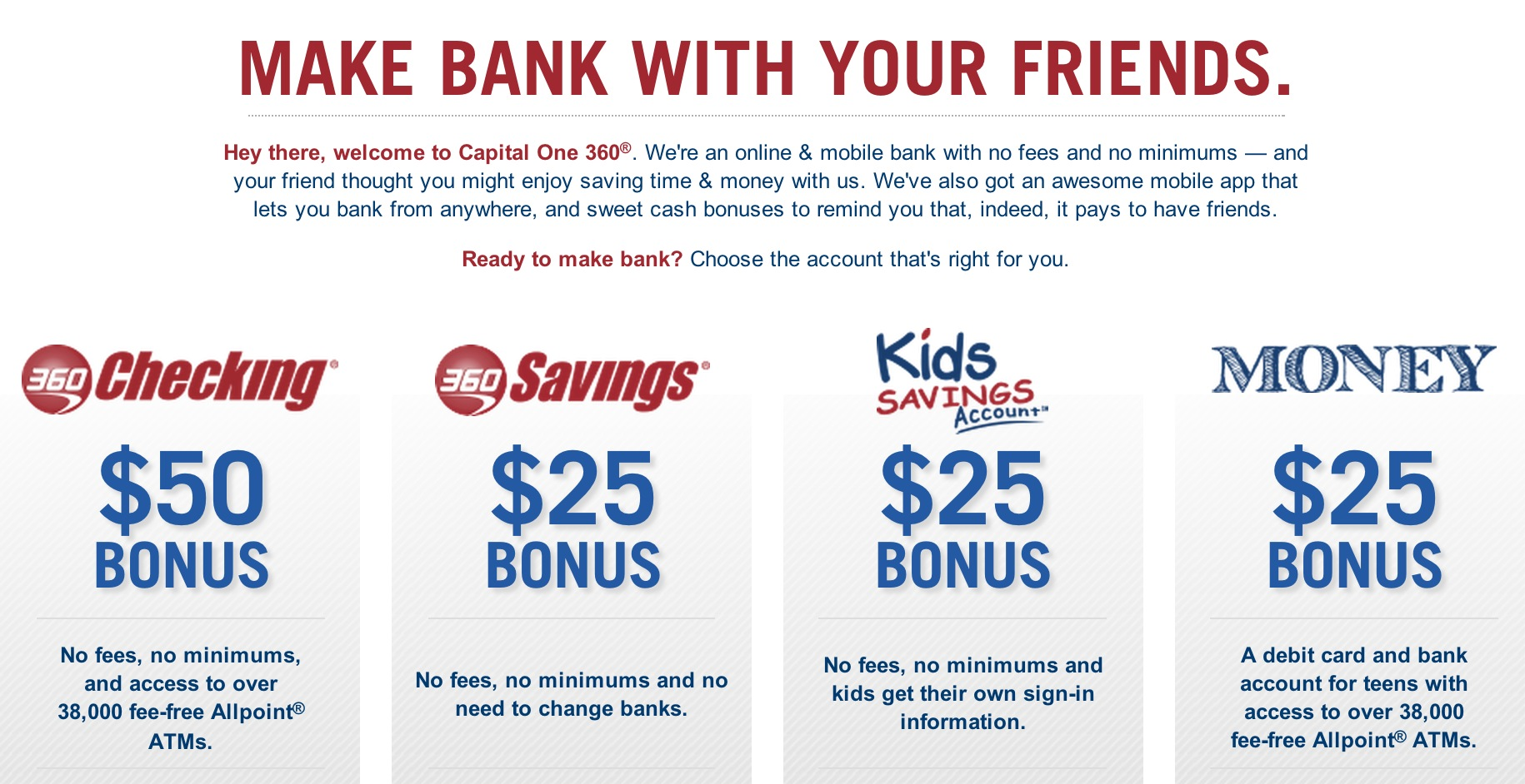 Capital One 360  Bonus Cash  Bargain Lee