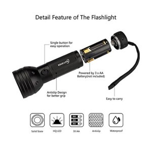 UV Flashlight Black Light
