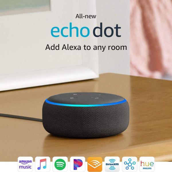 All-new Echo Dot (3rd Gen) – Smart speaker with Alexa – Charcoal