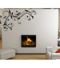Swirl wall art decal for living room decoration, swirl