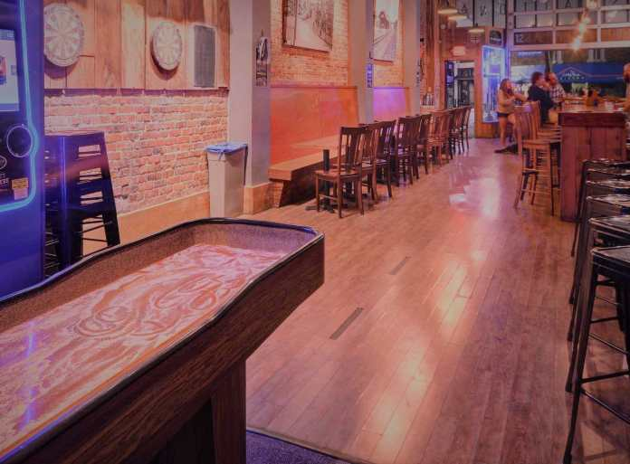 wesome bars with shuffleboard tables