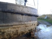 The stern of 69.M after leaving the lake.