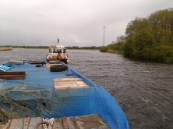 View from the tiller of 77.M, stretch of river below Banagher. Part. III