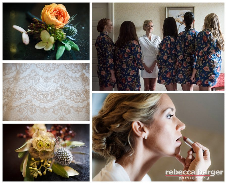 Steph's cosmetics were by Cheekadee and hair by Up Your Do, wedding day florals by Sullivan Owen.