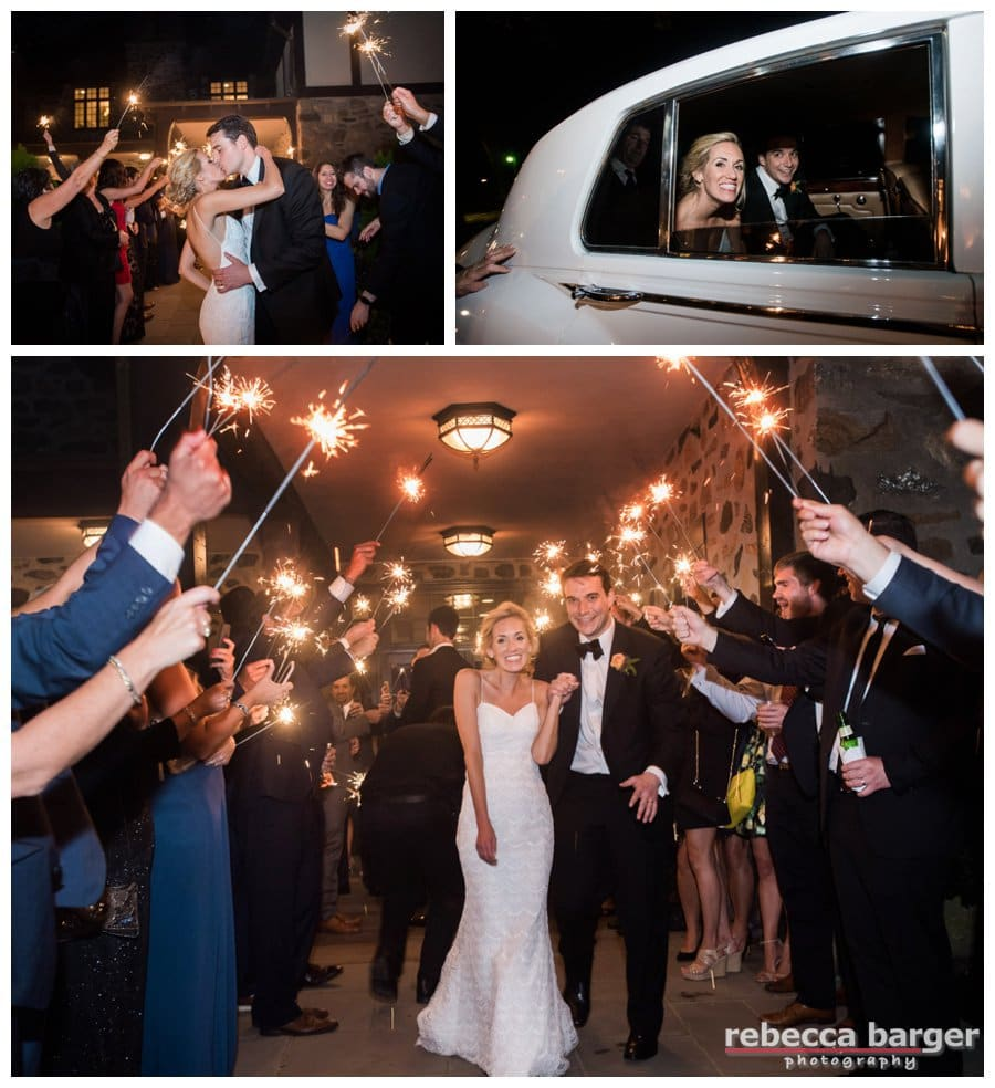 Steph and Zack ended their wedding day with a sparkler exit! Best Wishes Always, Steph + Zack!