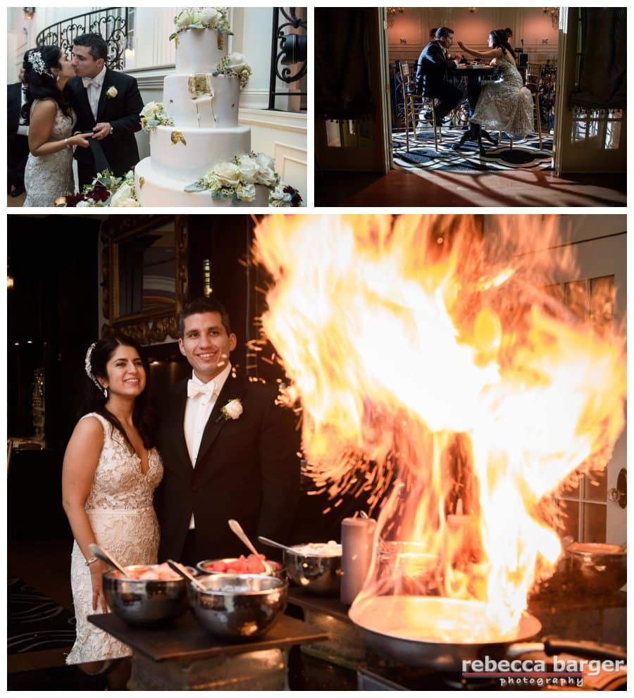 A little flambé to wrap up the reception! Thank you for letting me be a part of your day, Adriana + Dominic!