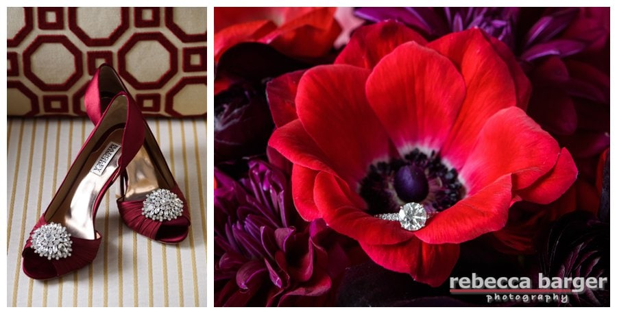 Badly Mischka's in a bold red! Flowers by Fabufloras.