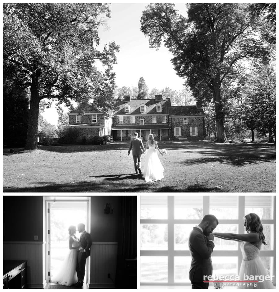 Claire & Ryan on their wedding day at Anthony Wayne House.