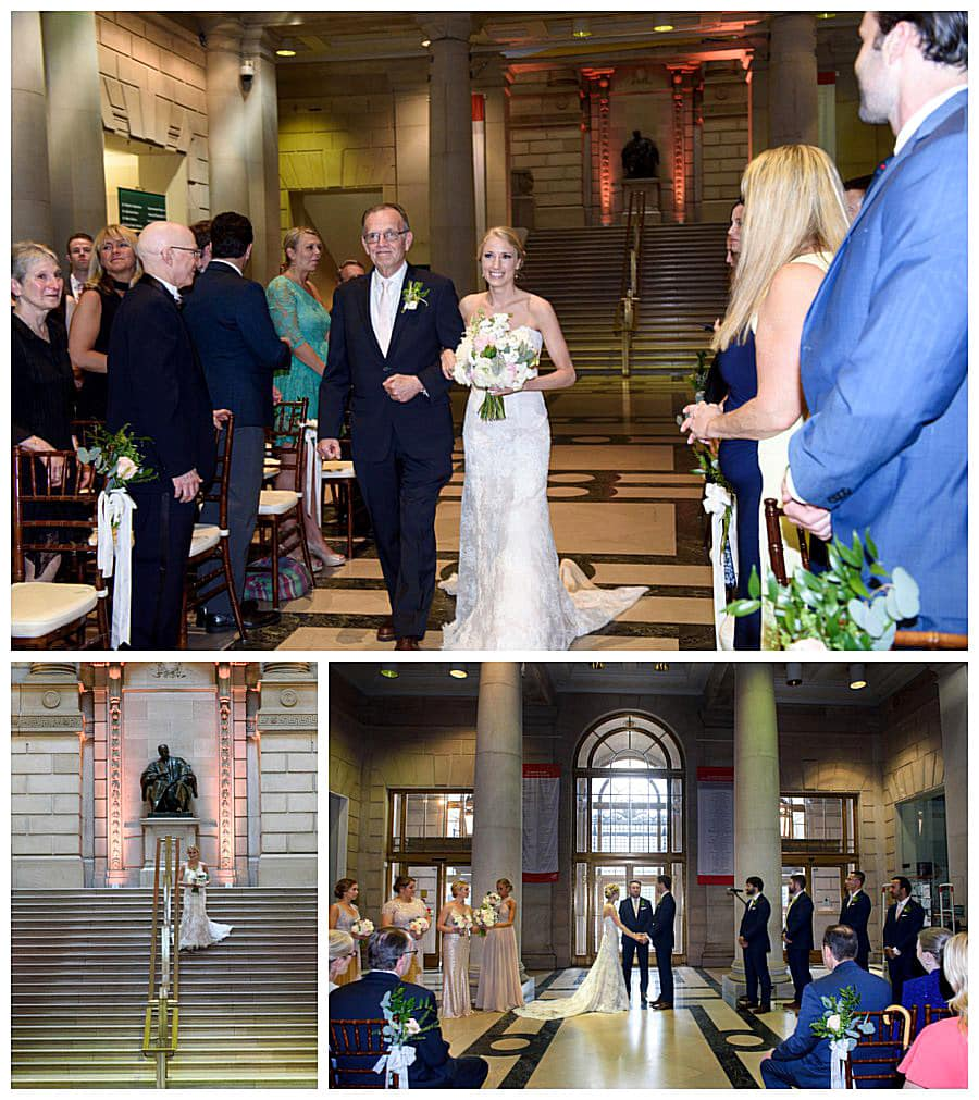Lauren had a lovely entrance down the staircase, then met by her father who escorted her.