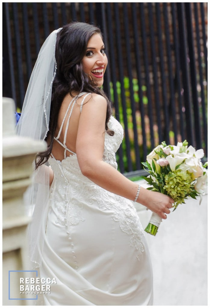 Cosmetics by All Dolled Up, hair by La Bella Sposa, bridal gown from Le Bella Donna and Kristina's Wildflowers!.