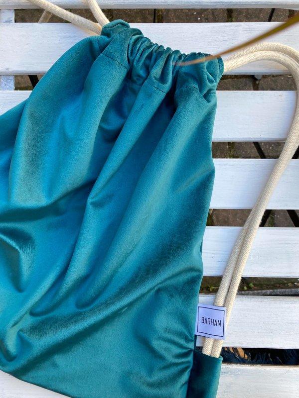 plecak worek lazurowy