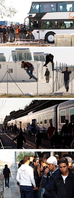Fuga di massa e assalto ai treni tafferugli a Taranto, poi lo sbarco