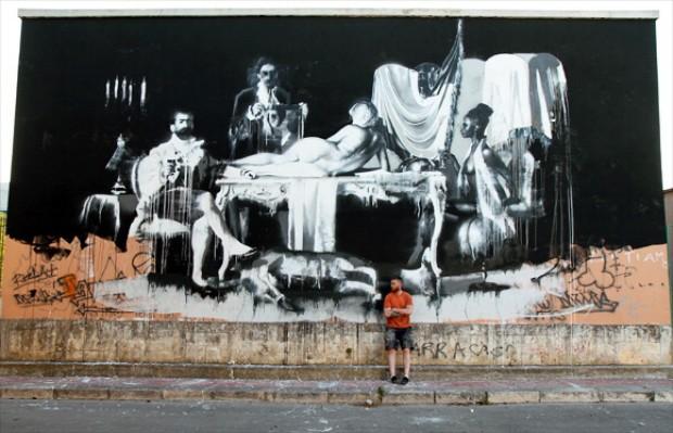 Foto Grottaglie capitale dei graffiti Le nostre case opere darte  1 di 10  Bari  Repubblicait