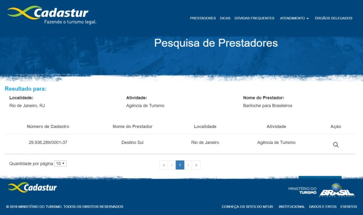 Destino Sul - Bariloche para Brasileiros - Cadastur