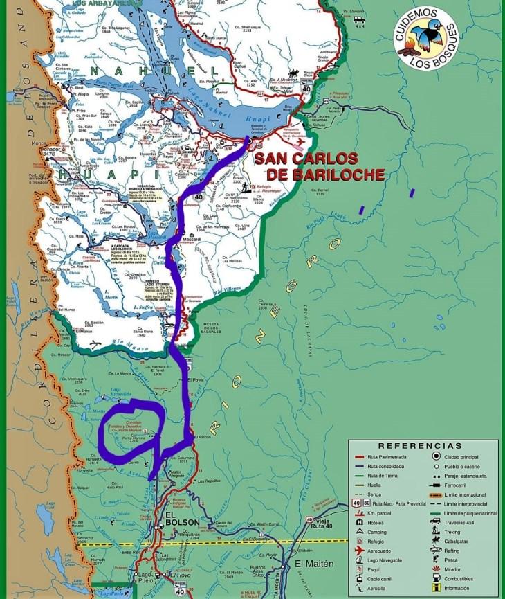 Ruta 40 - estrada para o Cerro Perito Moreno, no caminho para El Bolsón.