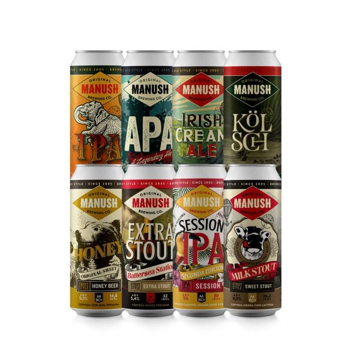 Cerveja artesanal Manush - Pack Full Experience