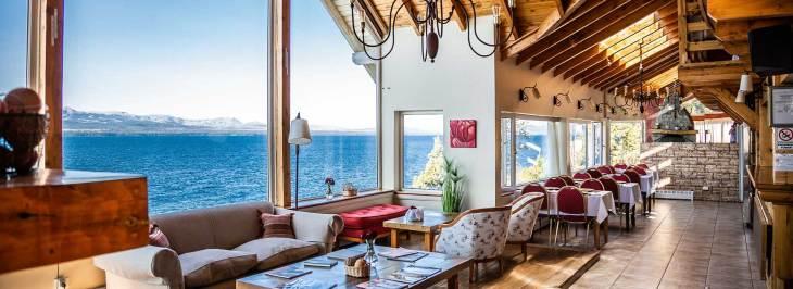 Hotel em Bariloche com vista para o lago Nahuel Huapi