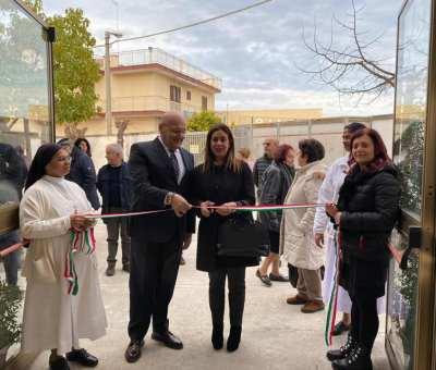 Nella XXVIII giornata mondiale del malato, la consigliera regionale Annita Maurodinoia inaugura a Corato il nuovo auditorium presso la casa di riposo Testino