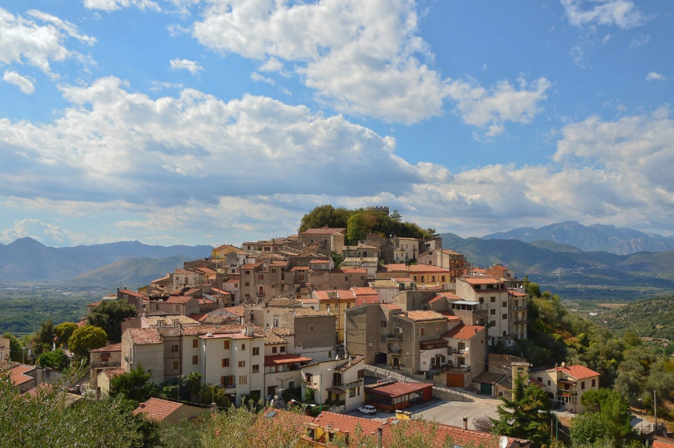 View of the village of Monteroduni in the Molise region