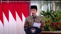 Presiden Joko WIdodo meluncurkan Gerakan Wakaf Tunai
