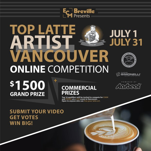 Top Latte Artist Competition British Columbia