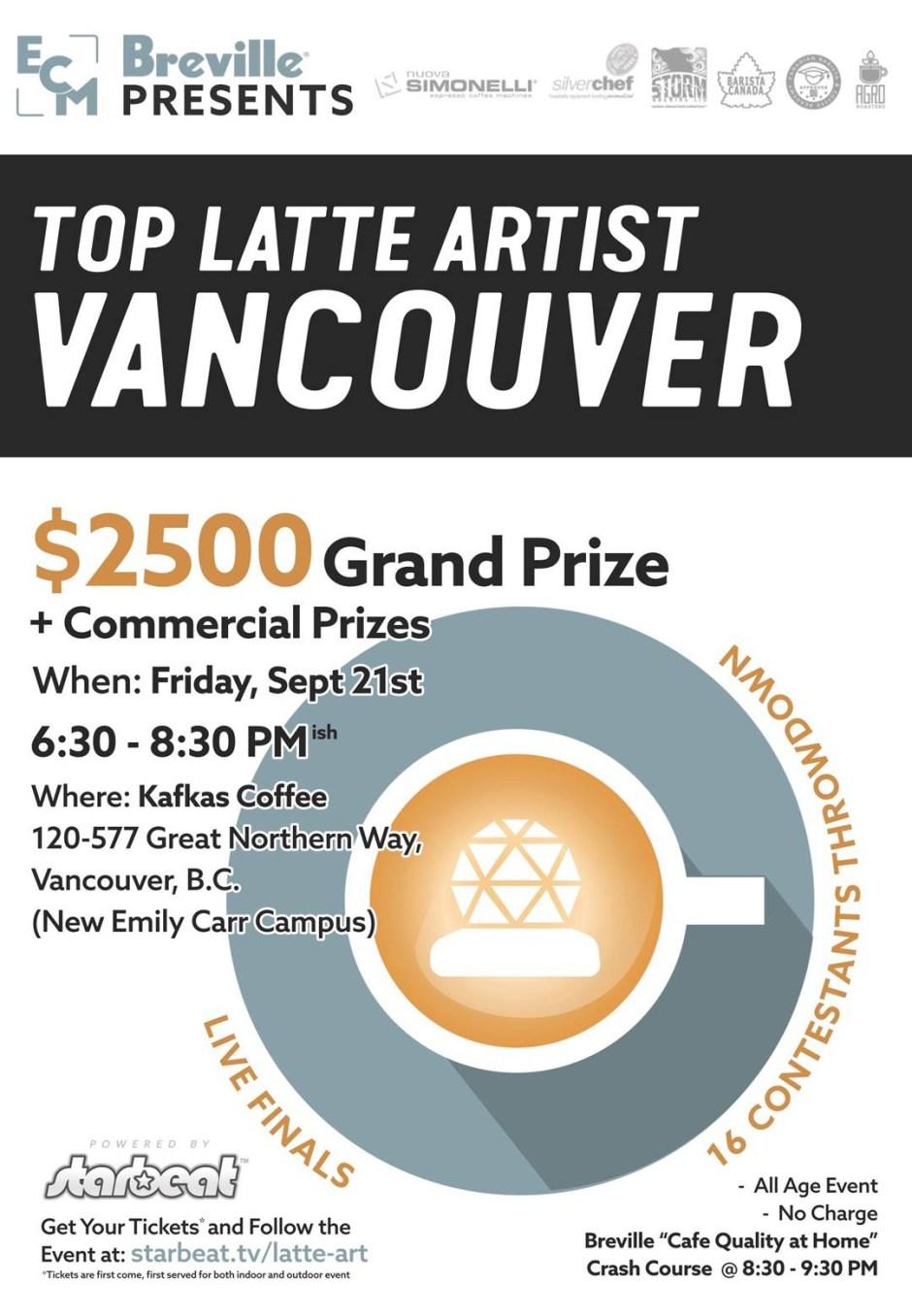 Vancouver Latte Artist Contest