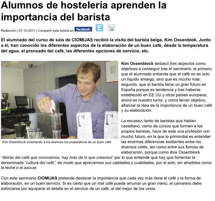 Barista Kim en www.andaluciadeviaje.es