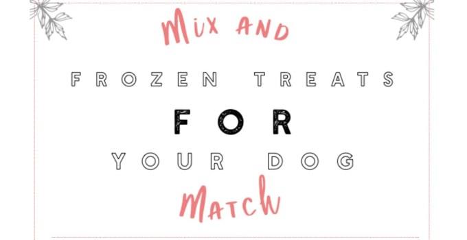 Mix and Match Frozen Dog Treats