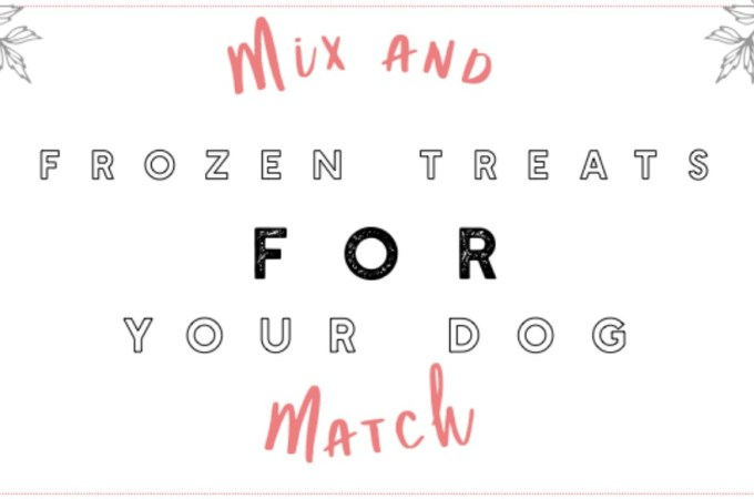 Mix and Match Frozen Dog Treats