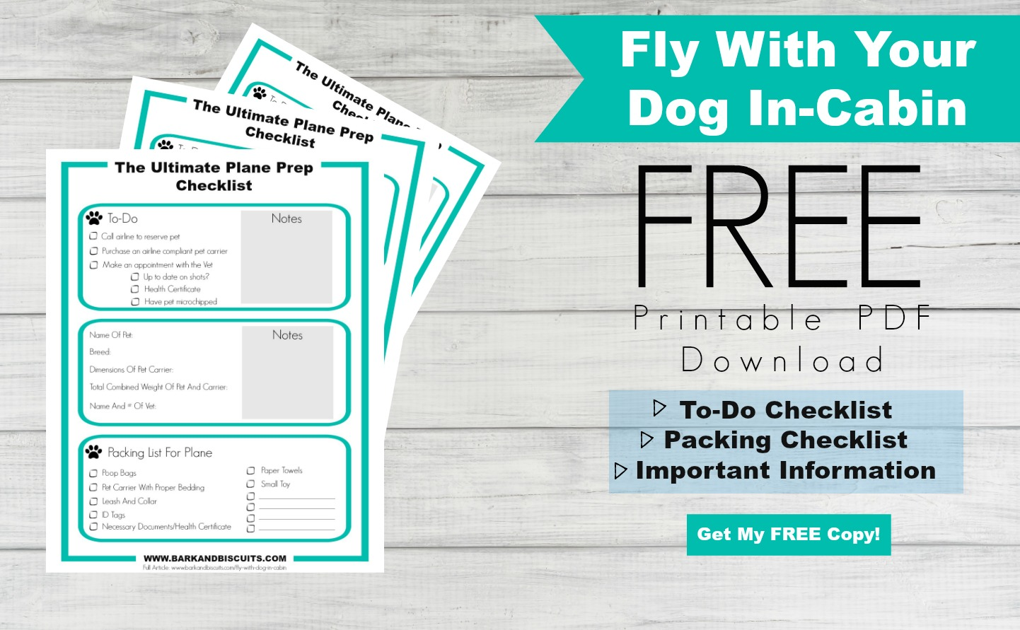 How To Fly With Your Dog In-Cabin: FREE Download