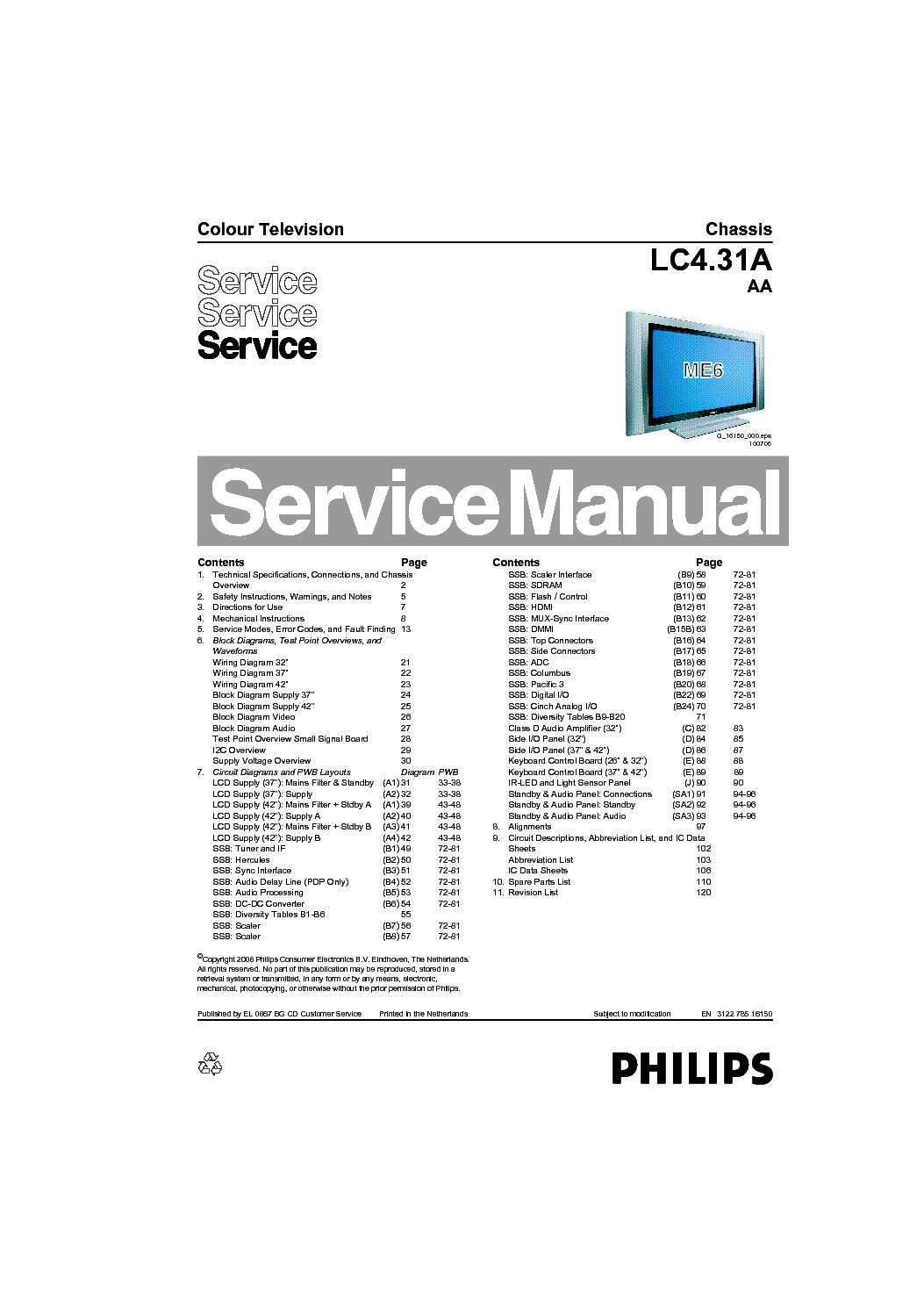 Phillips 42pf7421 79 Instruction Manual