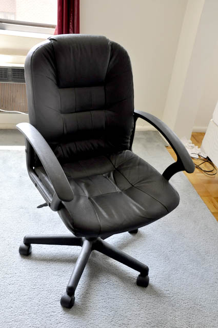 white desk chairs target how to make a cardboard chair with only office barker ave garage sale plains ny 10601 black