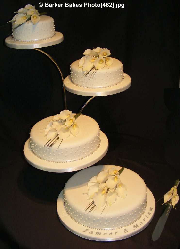 Six Tier Wedding Cakes With Fountain