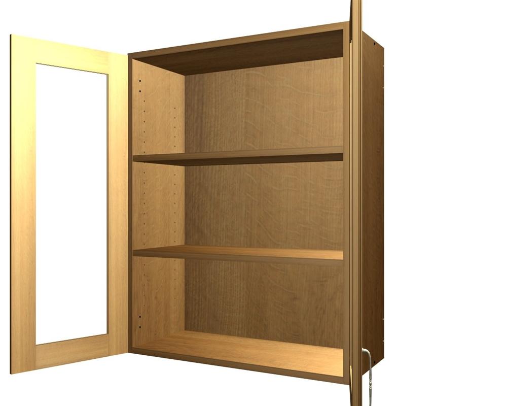 2 Glass Door Wall Cabinet