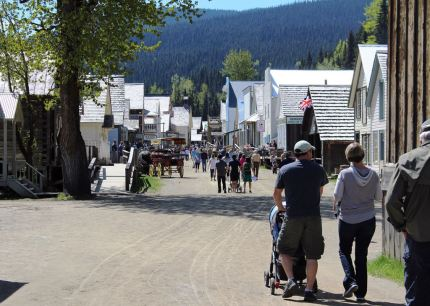 Victoria Day visitors to Barkerville