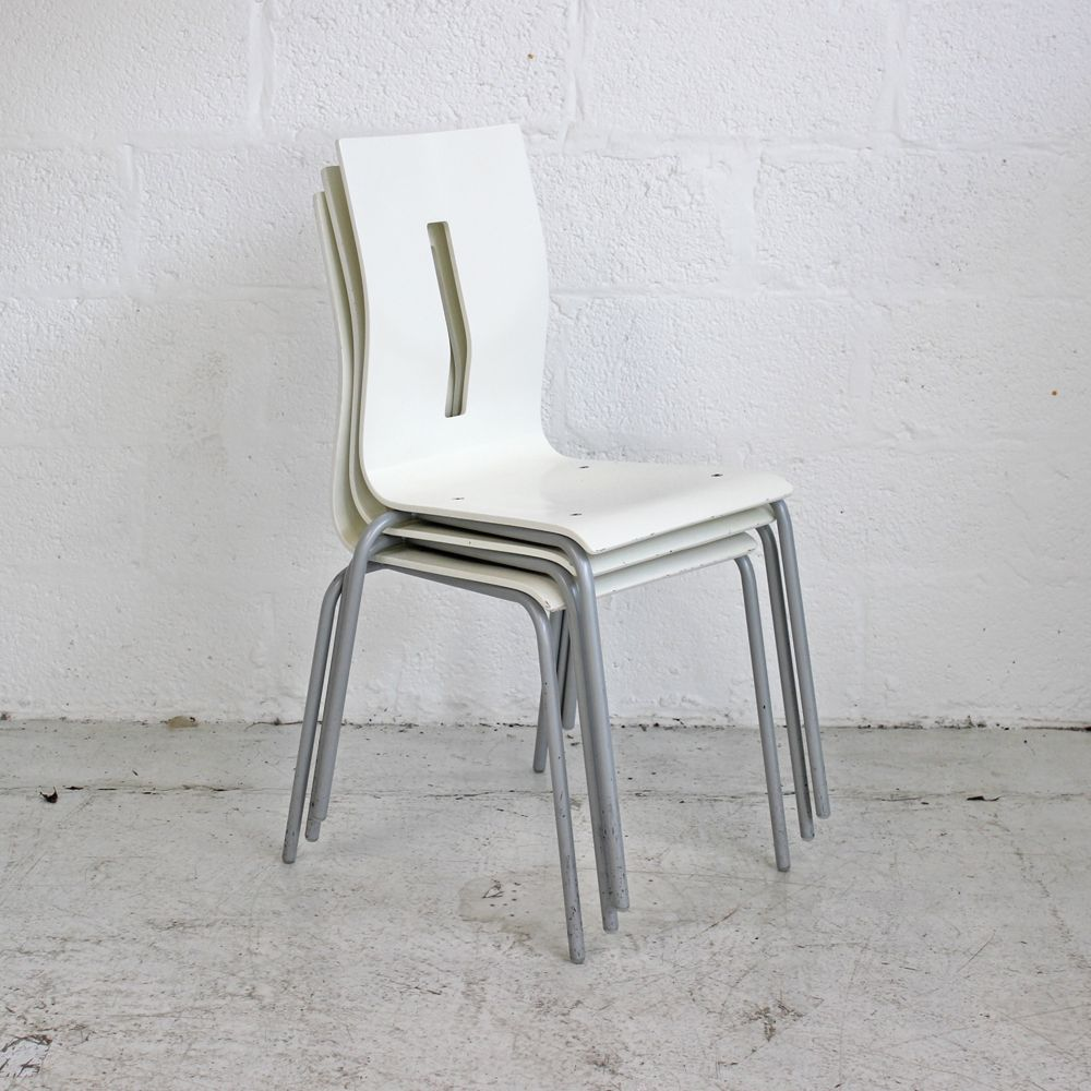 White Bistro Chairs White Canteen Chair