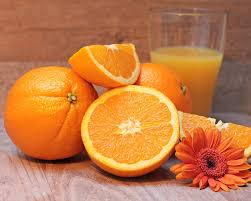 Orange juice squeezed into juice