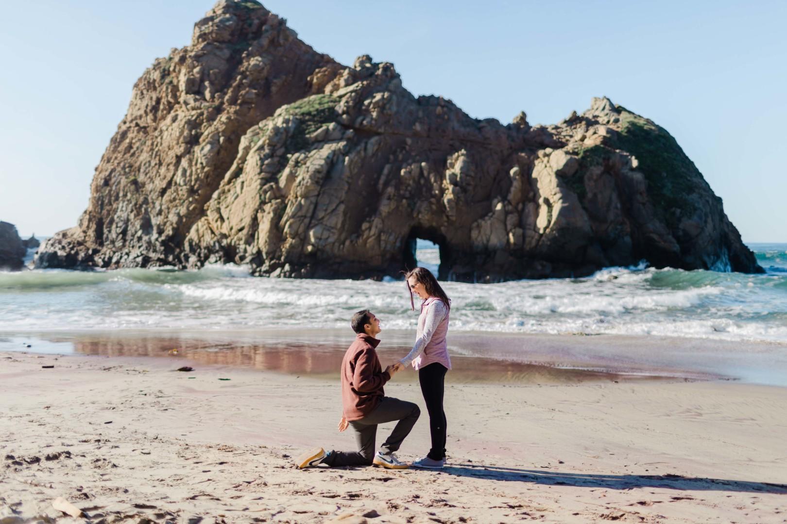 Amish Alli Pfeiffer Beach Big Sur Proposal Barkis