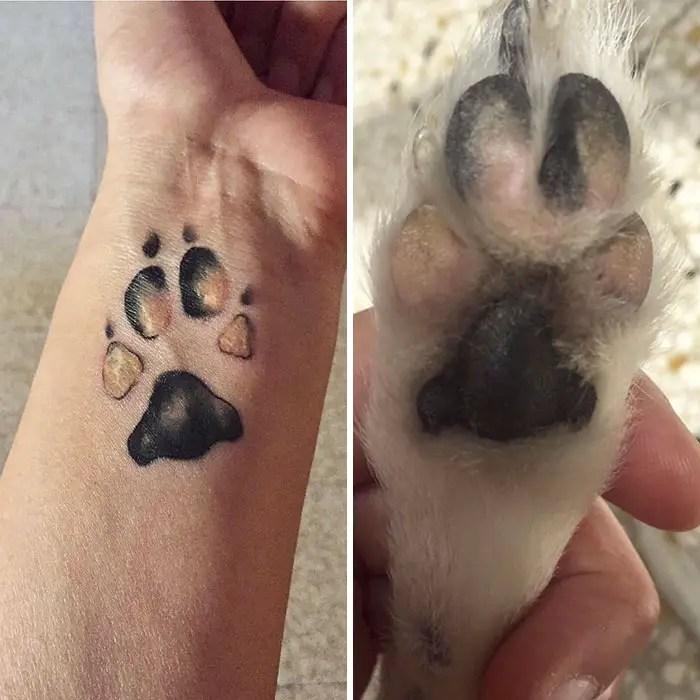 dog paw print tattoos that make the best tattoo ideas!