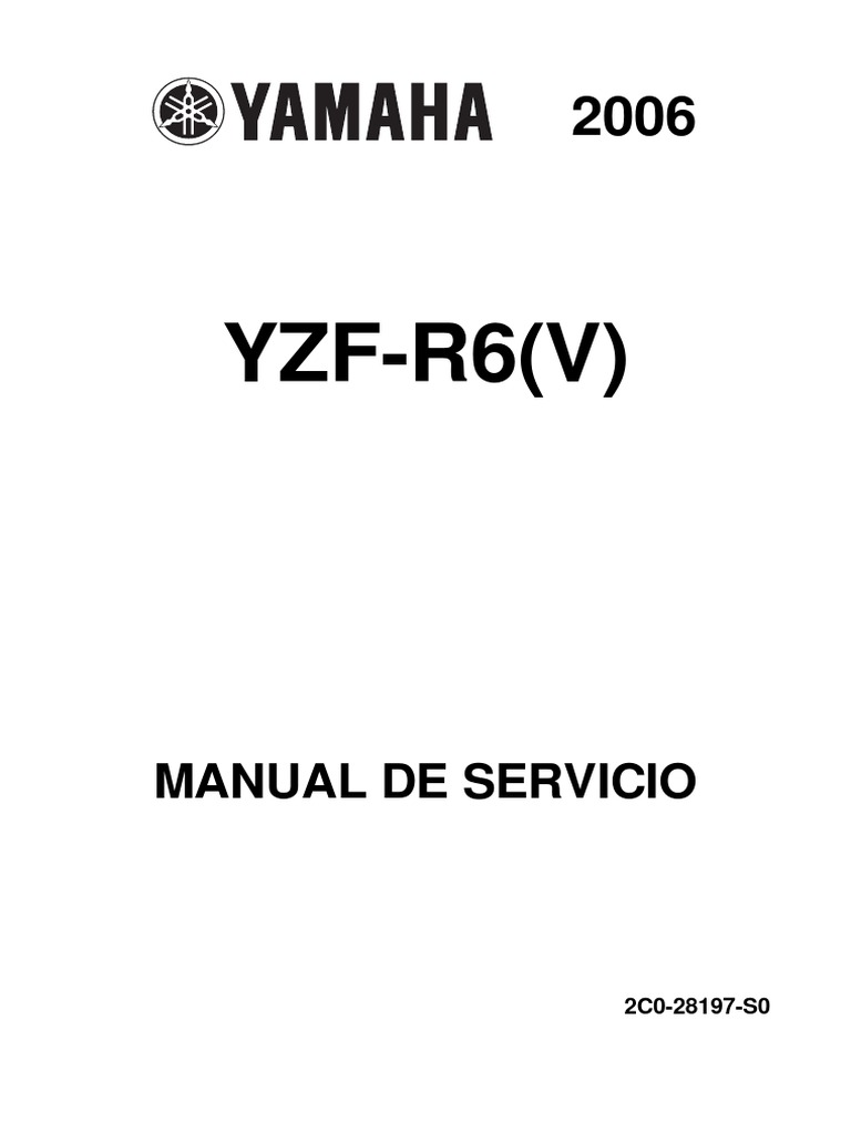 2007 Yamaha R6 Owners Manual